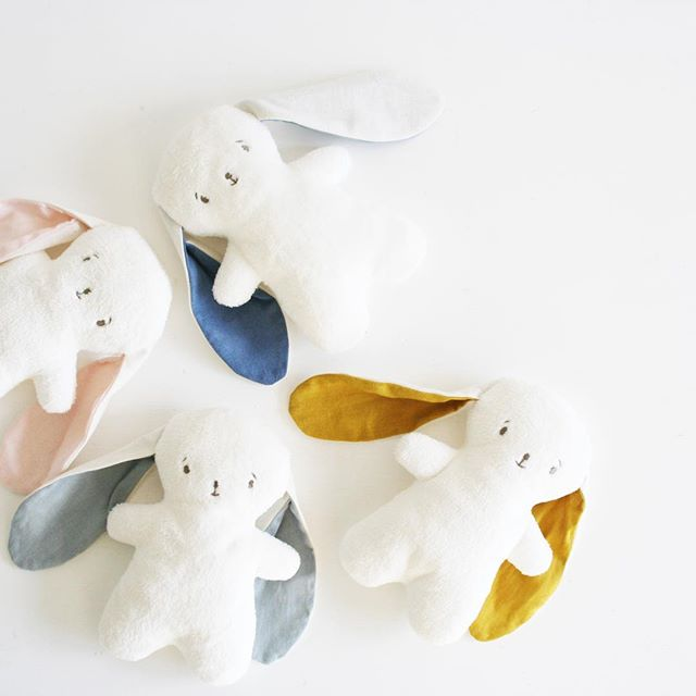 Beautiful bunnies, in our baby gift boxes.