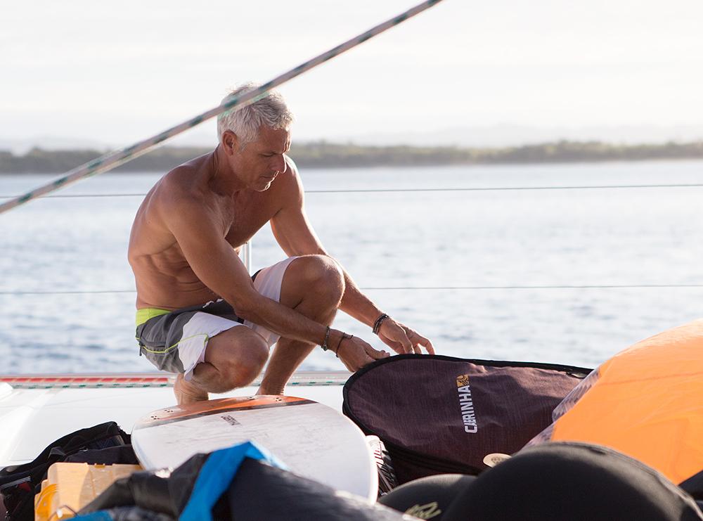 Pete aboard the Cabrinha Quest™ in Fiji.
