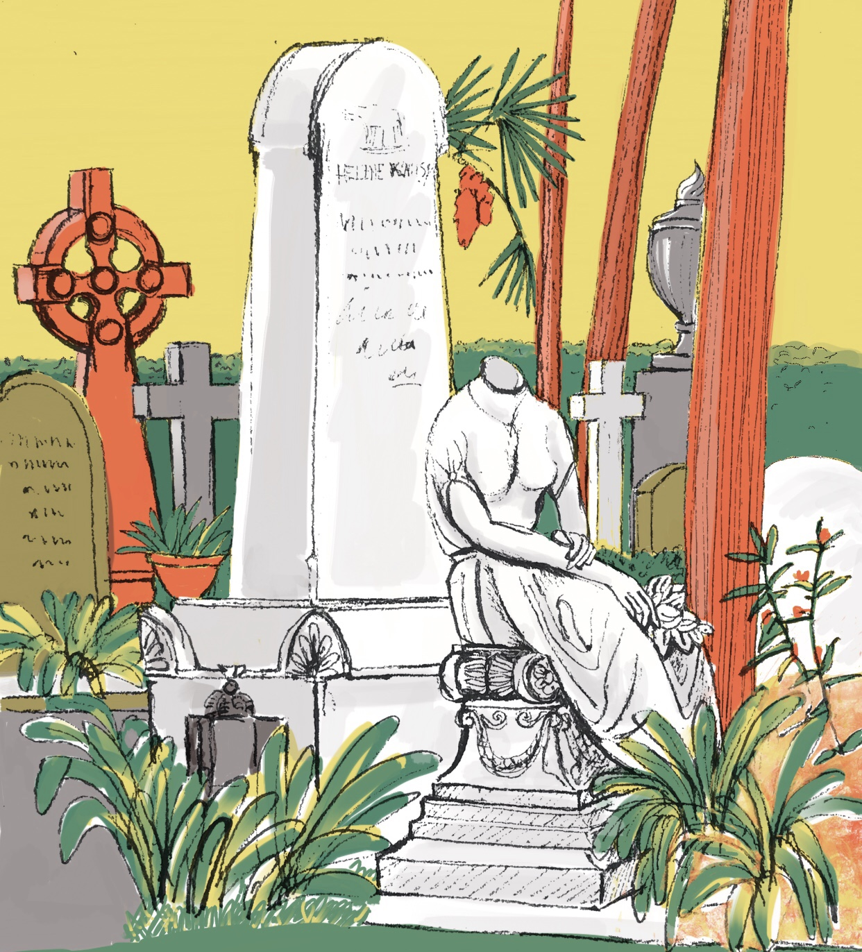The Headless Woman Non Catholic Cemetery of Rome. (digital) 33 x 36cm £45 framed £30 unframed (edition of five).