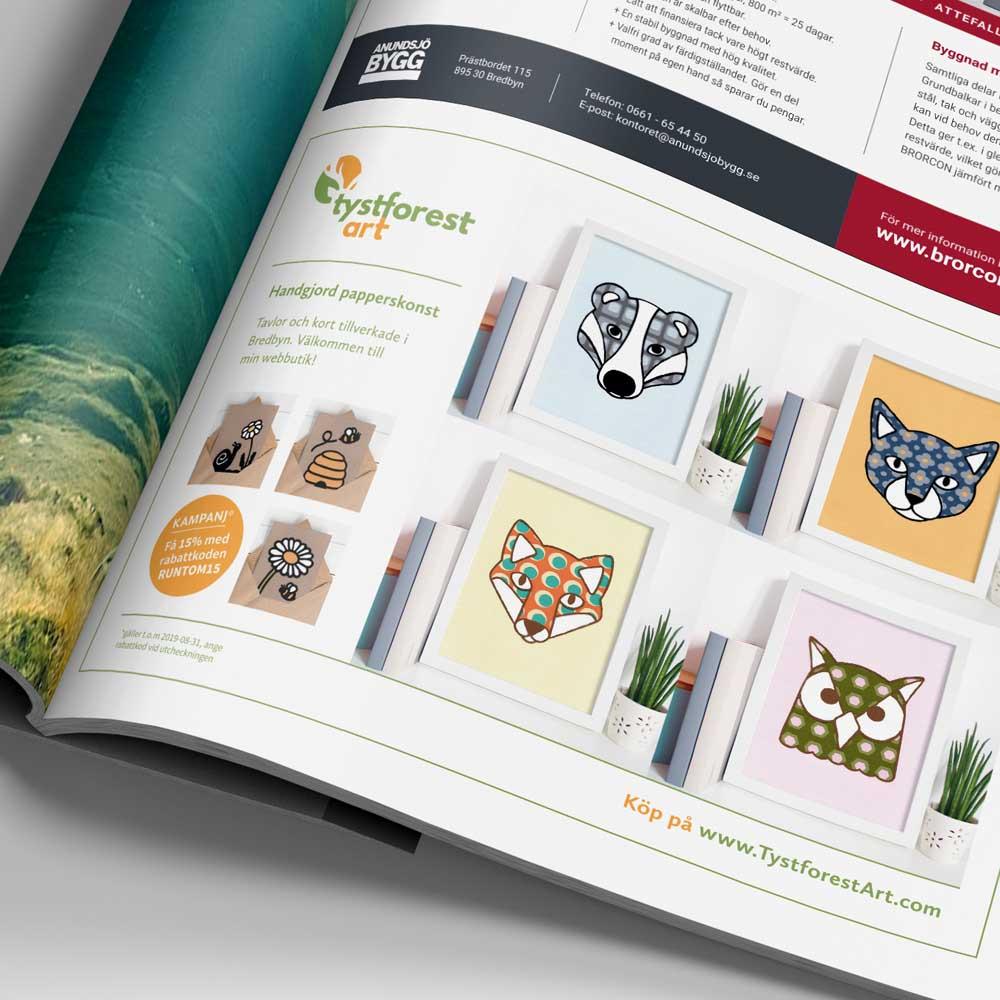 Design för tidningar, flygblad och broschyrer