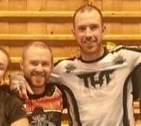 Alex (t.v.) sammen med trener Rory (t.h.)