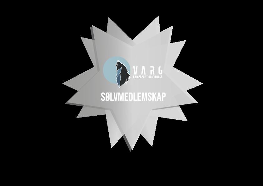 Sølvmedlemskap - 3 treninger/uke - 499 kr/mnd - Du kan velge mellom å betale hver måned, hver 6. måned eller hver 12. måned.Inkluderer alle rabatter og medlemsfordeler som følger et medlemskap i Varg Kampsport.