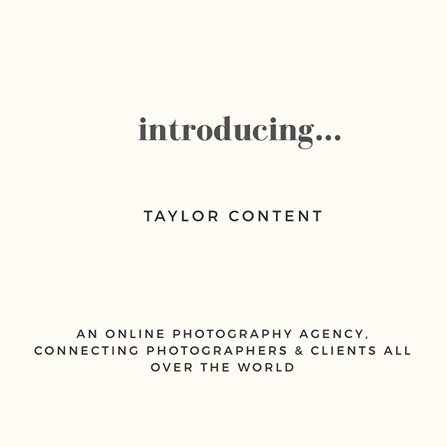 Hi and welcome to... Taylor Content ☺️ The newest member of the @taylor_magazine family, Taylor Content is a place to find photographers to capture your magical moments, wherever you are in the world. Whether you're a brand looking for new fun product shots for your website, a couple looking for a great photographer to capture them on their honeymoon or a group of gal pals heading away on a much needed trip, there's a photographer for everything. You can book online, or send us a custom form with all of the details so we can connect you with the perfect photographer for your project. We have 3 different categories: People, Content & Events and we'll be sharing more info on each of these over the next few days... we're so excited to introduce you to our wonderful new platform! #tayloredforyou ✨