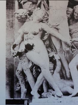 Photo de la sculpture vandalisée en 1869