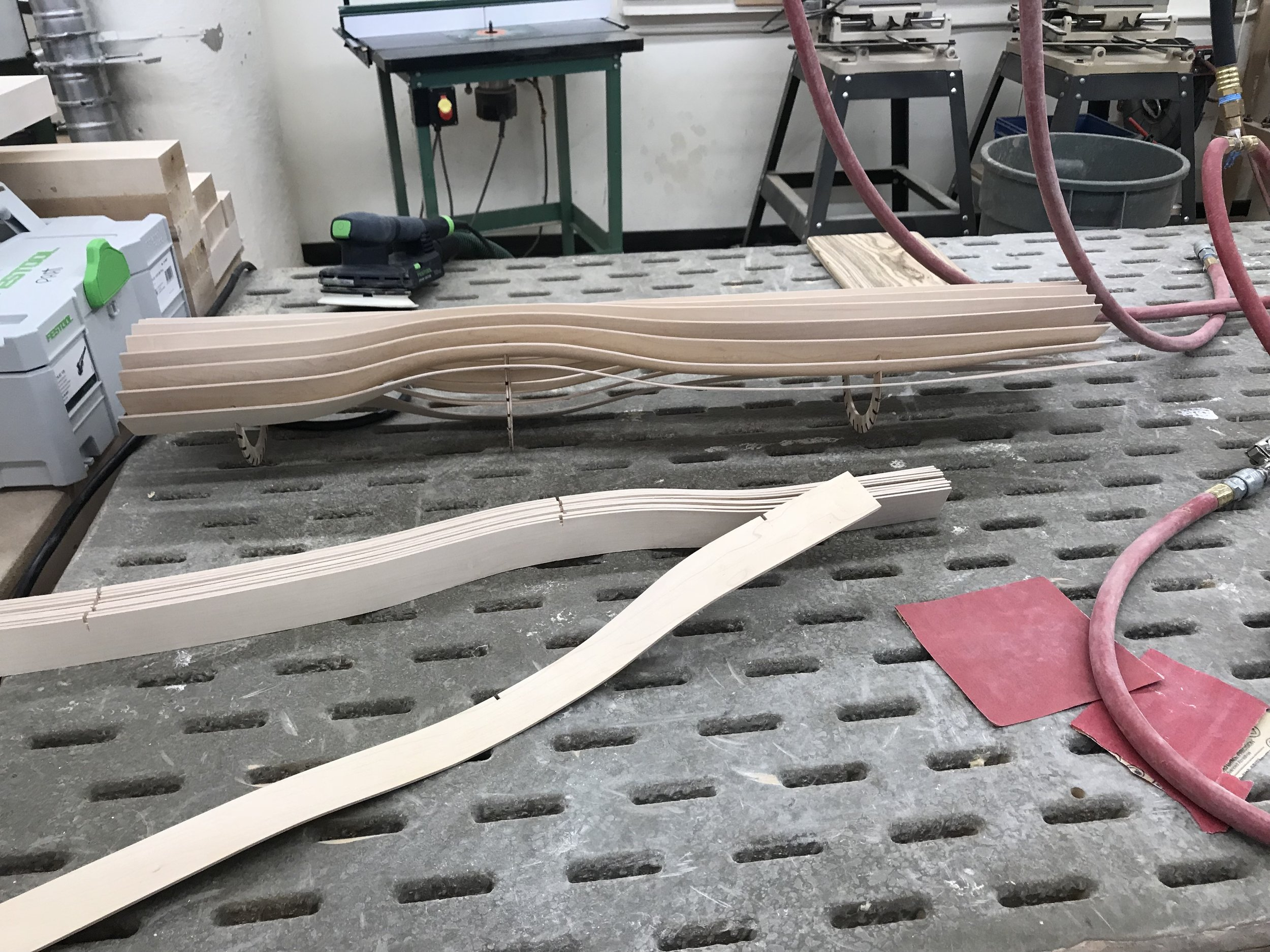 Trimming and sanding