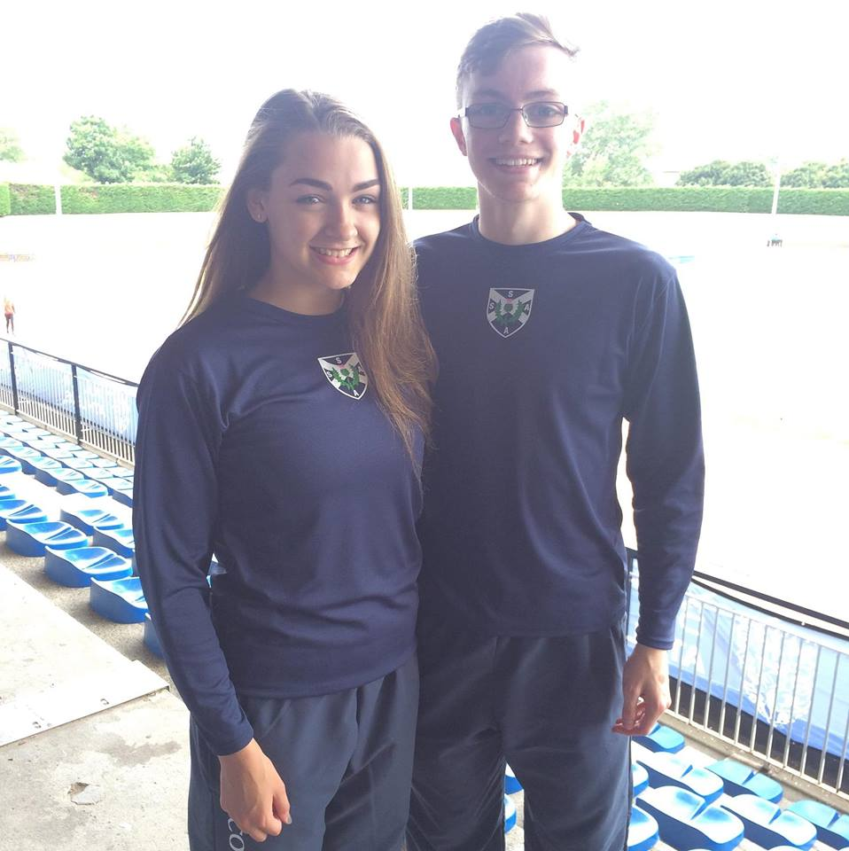 Katie Dinwoodie and Stuart Bain as part of the Scotland Team in the Schools International