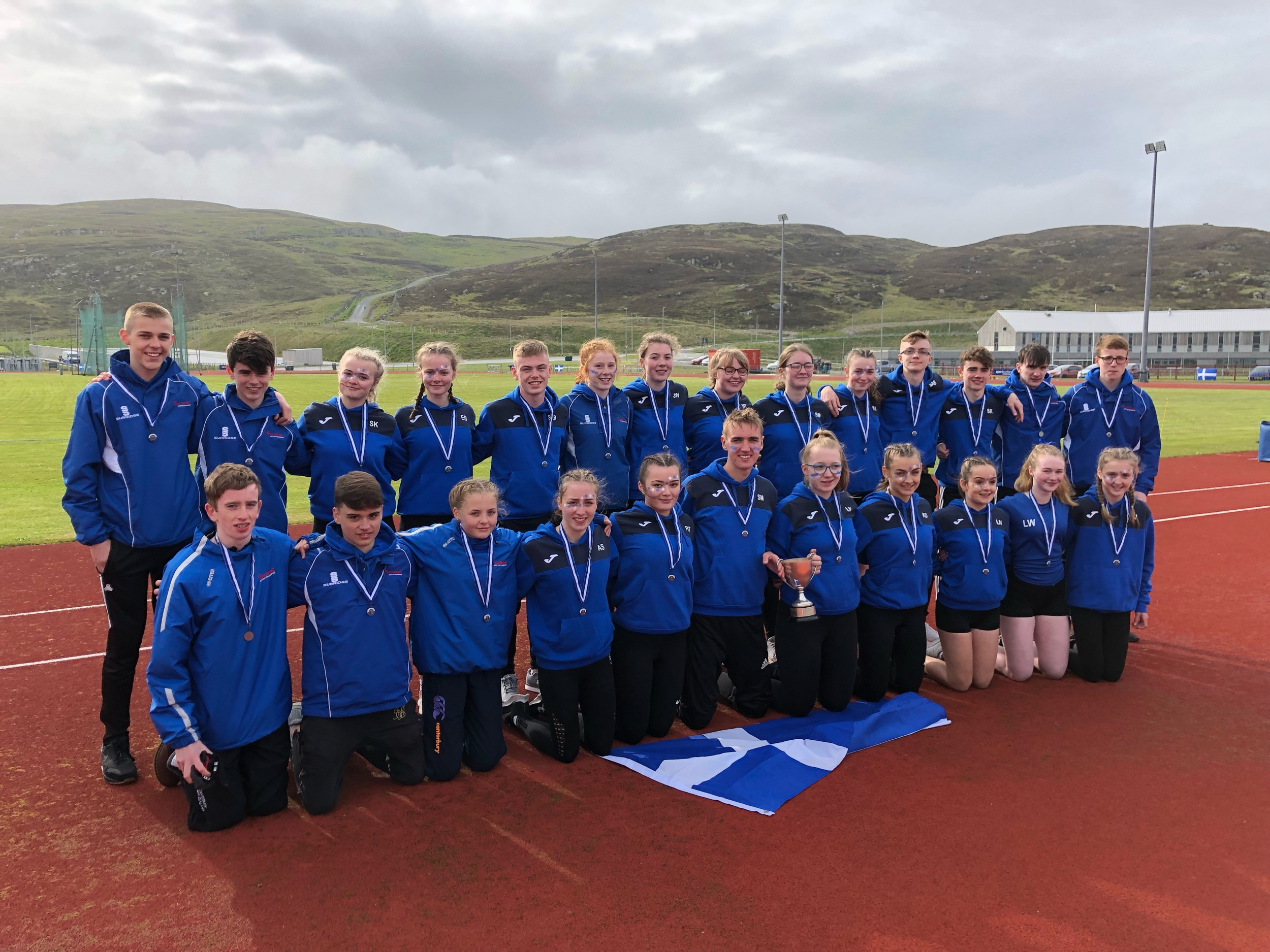 The winning Shetland team