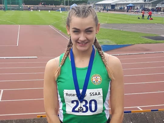 Scottish Schools Success - Dinwoodie breaks 200m Shetland Record on her way to Silver