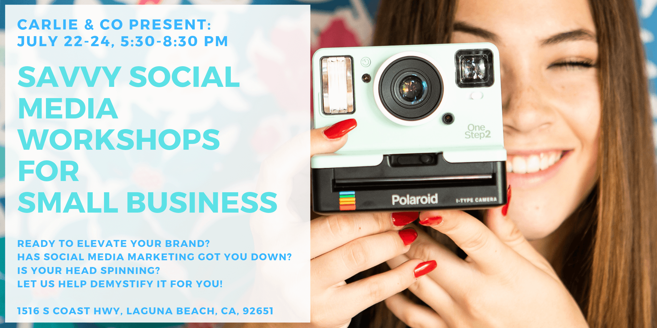 Savvy Social Media Workshop - Join an action-packed night filled with strategic talks from leading social media experts. If you're a small business owner looking to elevate your brand with a hands-on and practical approach, this event was made for you.Be sure to book your ticket as spots are filling up quickly! We're so excited to meet you.