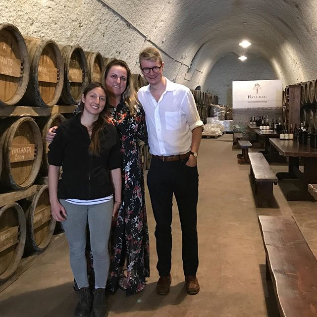 Wonderful morning with Konstantina (owner) and Stella (winemaker) at Hatzidakis, exploring their profound Assyrtiko whites and Mavrotragano reds from beautiful Santorini. Thank you!