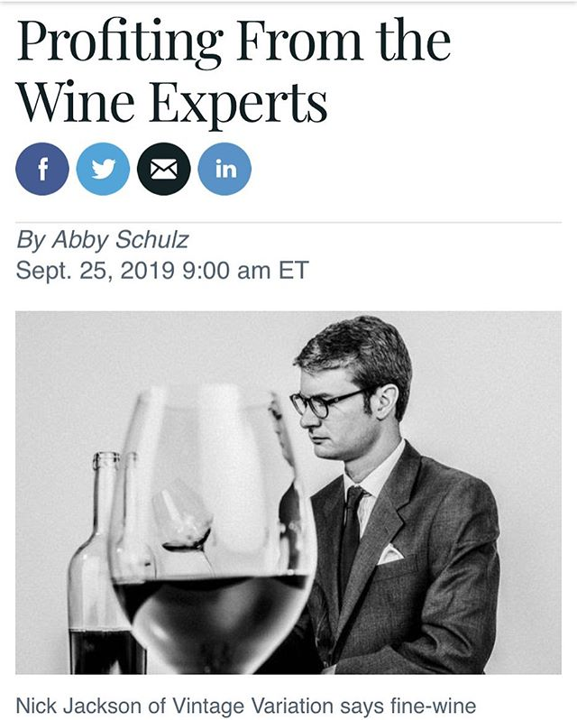 People often ask me what, exactly, I do. This article in Barron's contains some detail about that and also a few thoughts about wine investment. Thank you to @philipvukelich for making the 📸 shoot so relaxed. Link in...well, you know where.