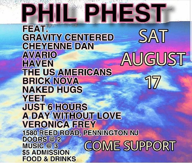 This Saturday, we'll be playing Phil Phest with some dope bands in Pennington, NJ!! 5 dollars for 11 bands!  EVENT LINK IN BIO