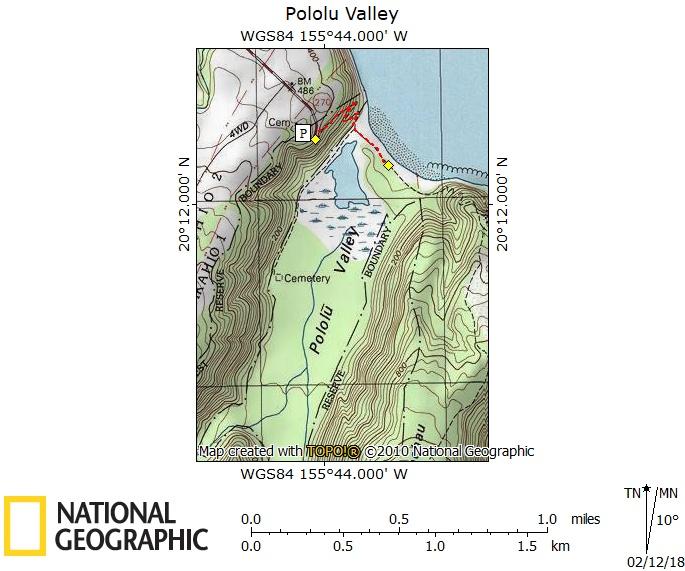 Pololū Valley Map