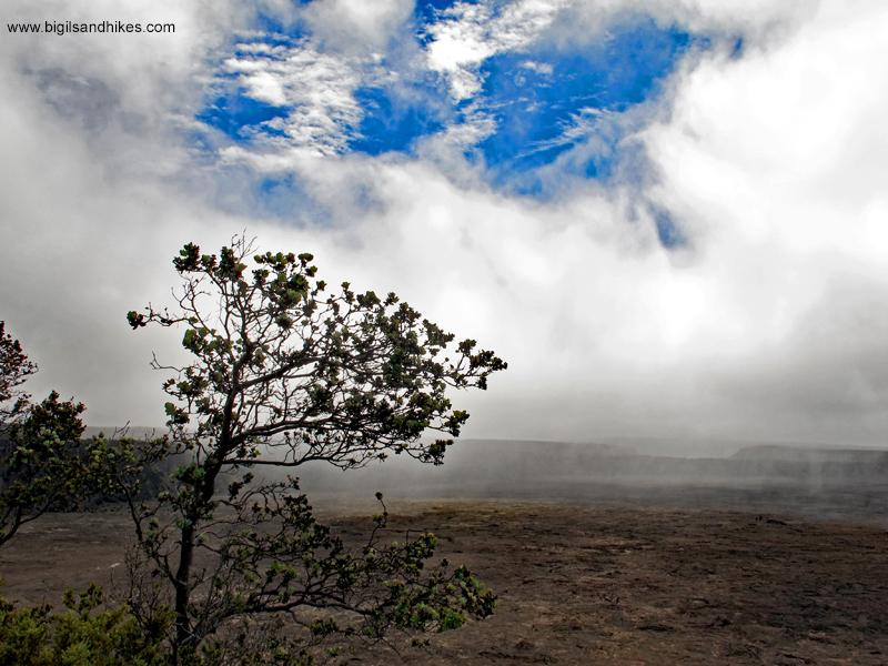 Rain Moving Across the Caldera