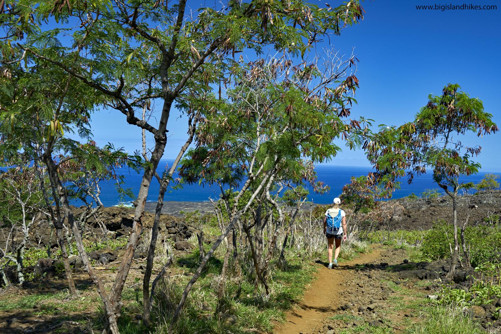 Hiking down to Kealakekeua on the Ka'awaloa Trail