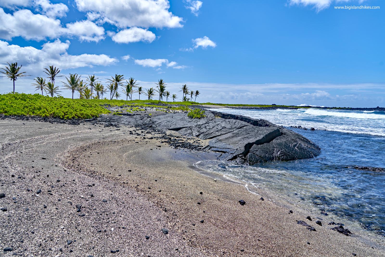 A beach at ʻĀpua Point
