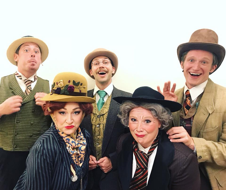 """Ensemble of """"A Gentleman's Guide to Love and Murder"""" Rocky Mountain Repertory Theater"""