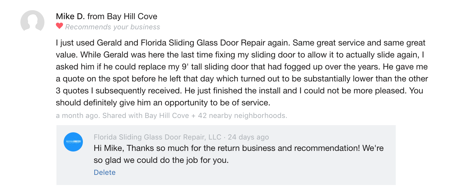 Sliding glass patio door repairs and glass replacement