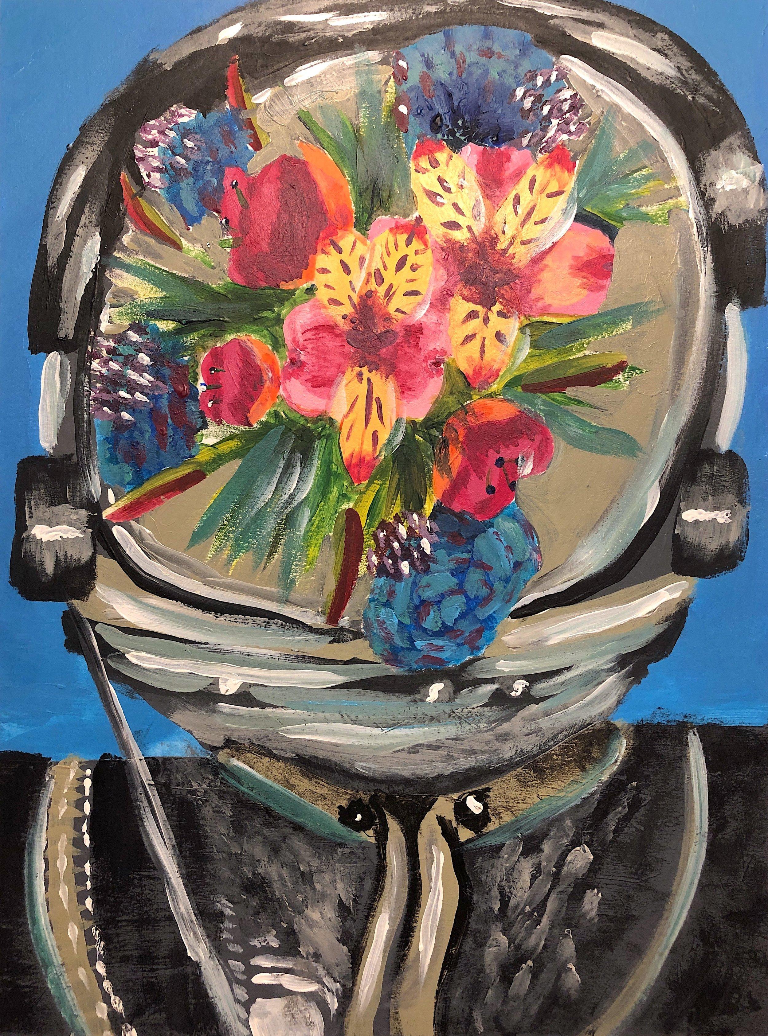 """Cosmonaut"" / Artwork by Katy Grubb"