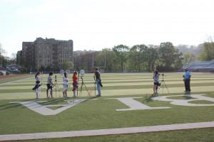 Team practice at Columbia University