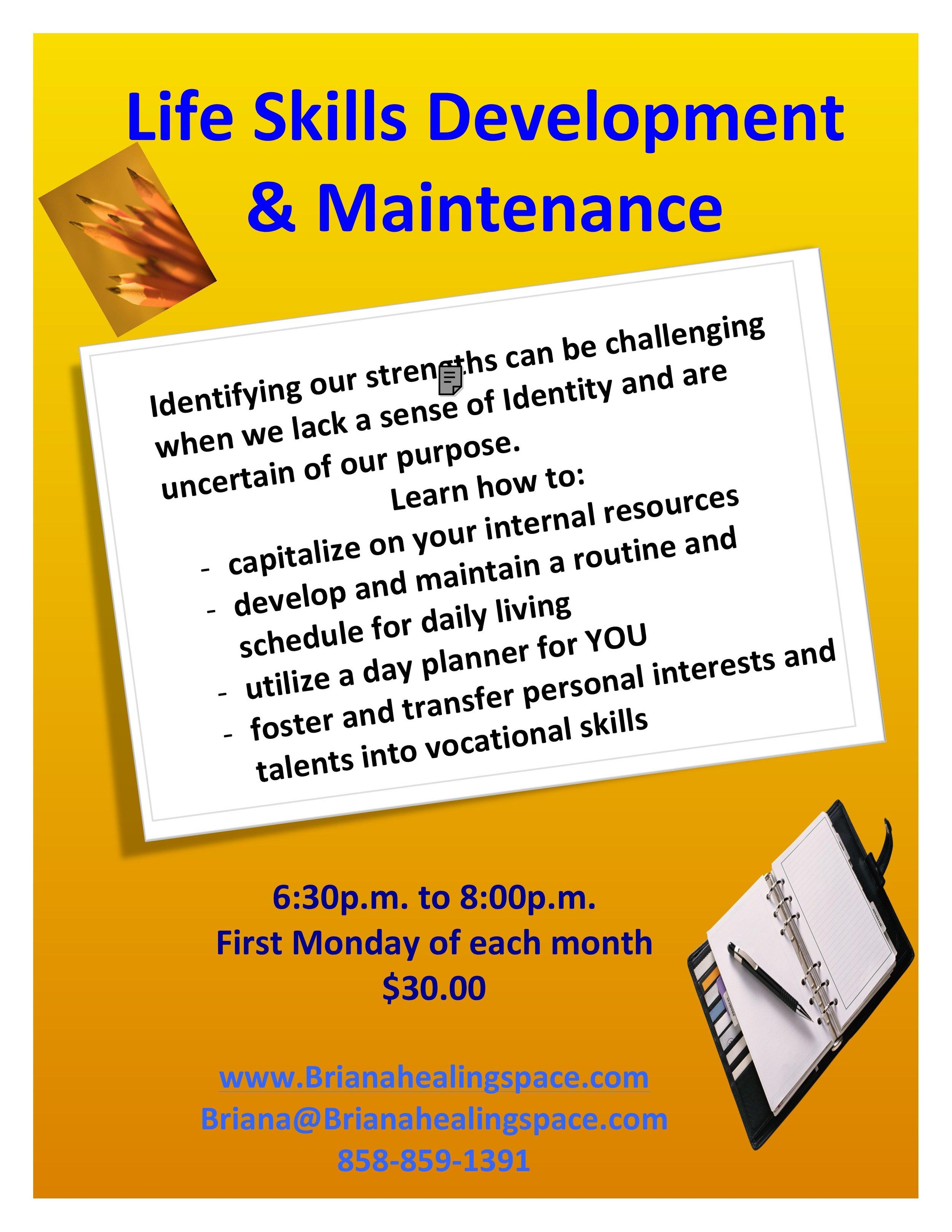 Life Skills Development and Maintenance