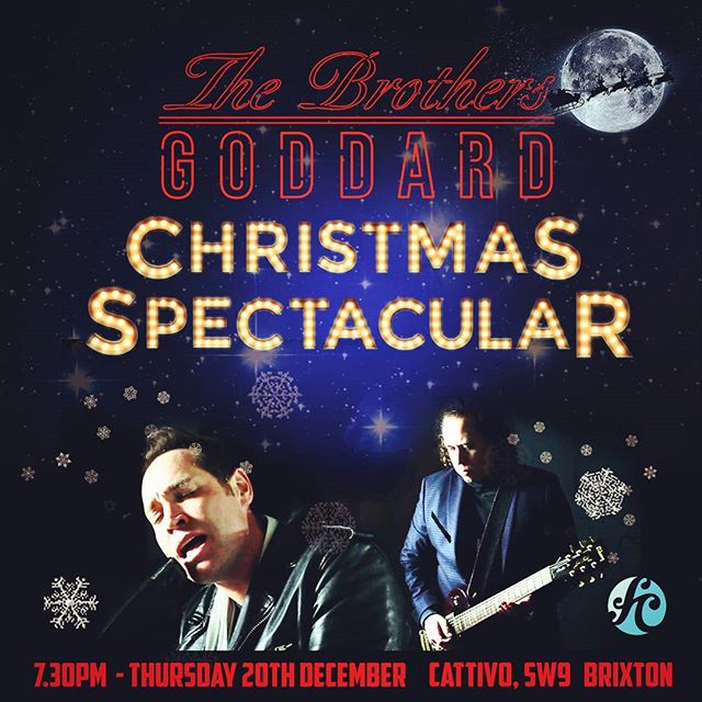 Save the date Thursday 20th December @brothersgoddard will be playing an unforgettable mix of Christmas Songs and Rock 'n' Roll classics with a full band @cattivobar in Brixton @functioncentral Ali Lion will be on the drums with a selection of special guest vocalists throughout the night . FREE entry night starts at 7.30pm Live music stops at 11pm #music #london @rogo_music @legionofmany #brixton