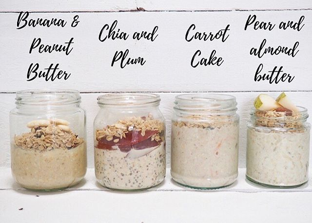 Monday...we're ready for you! Overnight oats prepped and ready to go 🥄  We've got four flavours on the go here and they're all topped with some of our delicious Nutty Granola.... Banana and Peanut Butter, Plum and Chia, Carrot Cake and Pear and Almond Butter 🍐  For the recipes, head to our website! Prep and pop in the fridge, grab and go in the morning... . . . . . #overnightoats #sundaymealprep #mealprep #sundayprep #eatnatural #granola #glutenfreeinspo #fitfood #natural #foodie #fitfoodie #nutritious #healthybreakfast #healthygranola #breakfastideas #breakfastinspo #glutenfree #breakfastgoals #healthyeating #planahead #motivation #starttheweekright #preparationiskey #foodprep #wellness #plantpower #recipe #healthyrecipes #healthyrecipe #foodblog