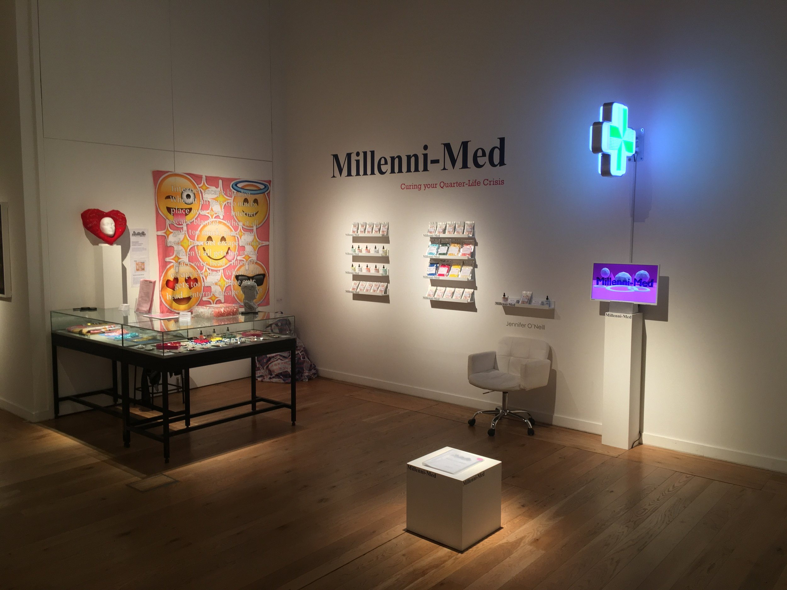 'Millenni-Med', Jennifer O'Neill, Ampersand Inventions studio member, Great North Museum, June 2019.