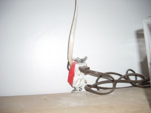 Home Inspection uncovers improperly installed electrical duplex