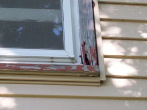Home Inspection reveals wood rot on window frame
