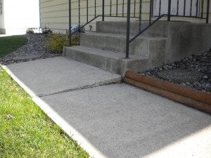 Home inspector recommends mudjacking to level cement slab