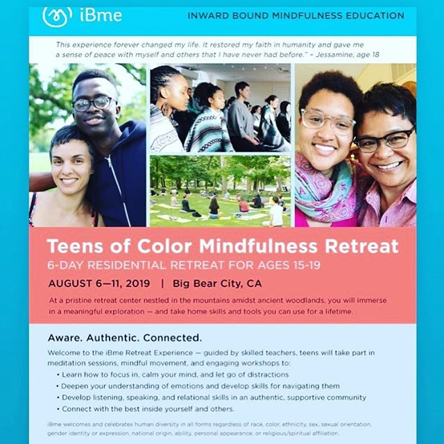iBme Teens of Color Retreat @bigbear_retreatcenter in SoCal. This mindfulness retreat will give teens and opportunity to show up as their authentic selves and flow with ease and acceptance. The space will will trauma sensitive and culturally relevant. Good times and great friends for a lifetime!
