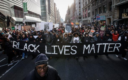 Black lives matter protest (Photo courtesy of Wikimedia Commons)