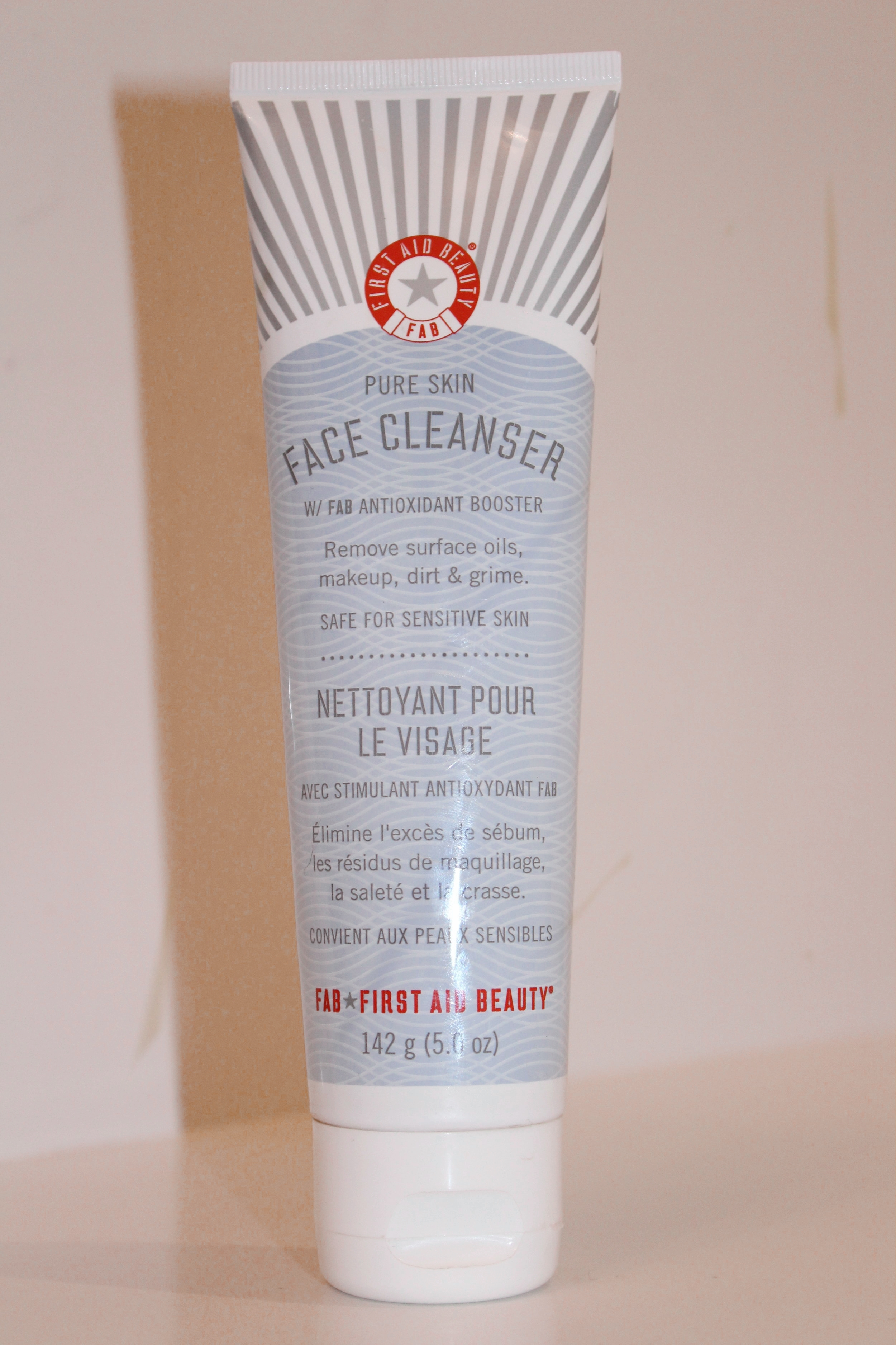 FIRST AID BEAUTY FACE CLEANSER - I use this face wash every other night and it is so good! It is moisturizing and removes all the dirt and makeup on my skin, but is still super gentle. It lasts a long time and is definitely worth every penny!