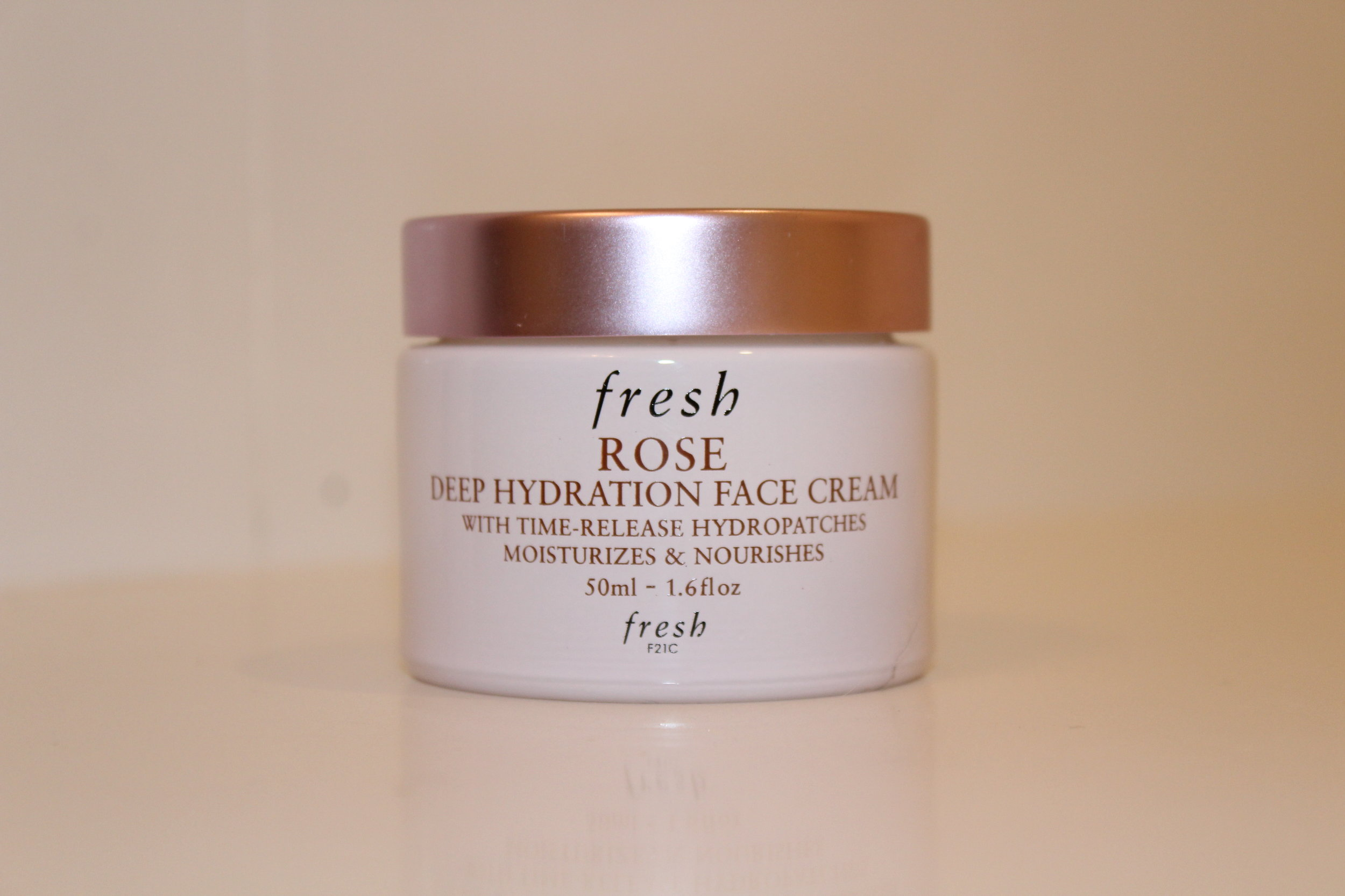 FRESH ROSE FACE CREAM - The Fresh Rose Face Cream is a spectacular morning face cream. It is light and doesn't make your skin look oily. It really helps with my redness and helps to make me look more awake in the mornings.