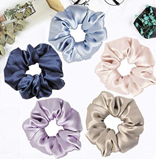 silk scrunchies to keep your hair out of the water