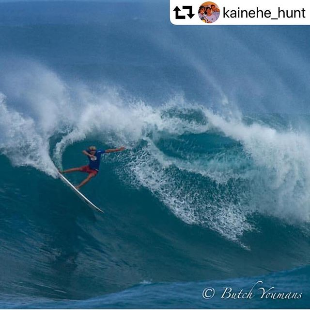So stoked on @kainehe_hunt! Check him out, he's the rising star to follow. #surffamily #surfohana #kainehehunt #longgrom #kauaiohana