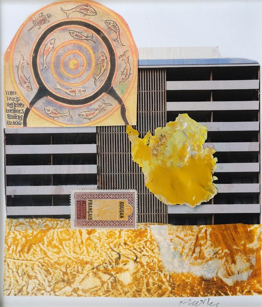 Tibetan Cosmos - 12 x 11 - collage