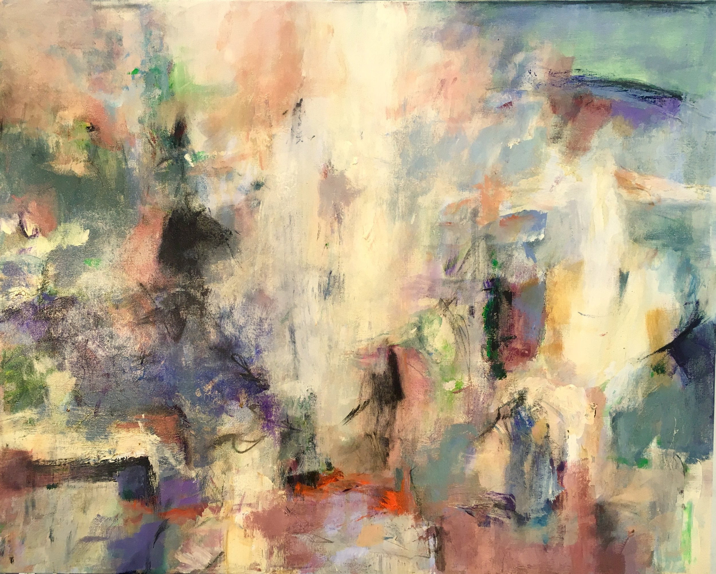 Jay Peterzell - Assumption - acrylic and charcoal on canvas - 24 x 30