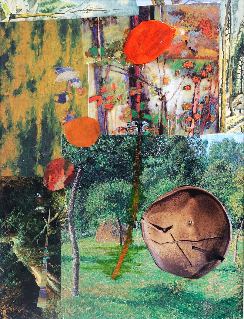 Garden Illusion  - 19 x 14 - collage