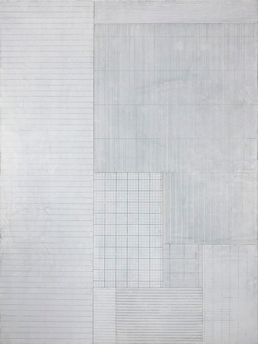 Untitled 8 - 24 x 18  - silverpoint and mixed media on panel