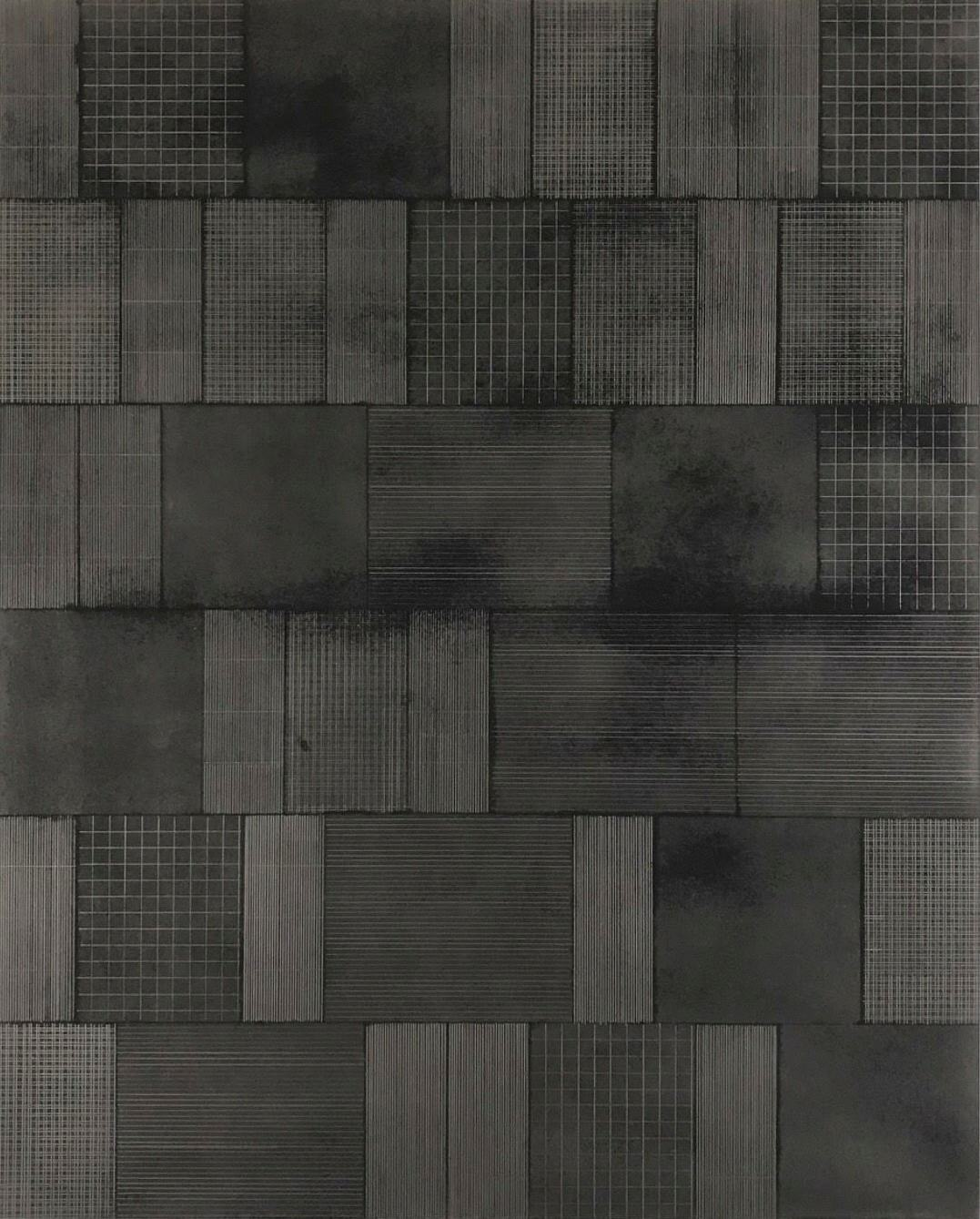 Untitled 3  - 30 x 24 - graphite on paper on panel