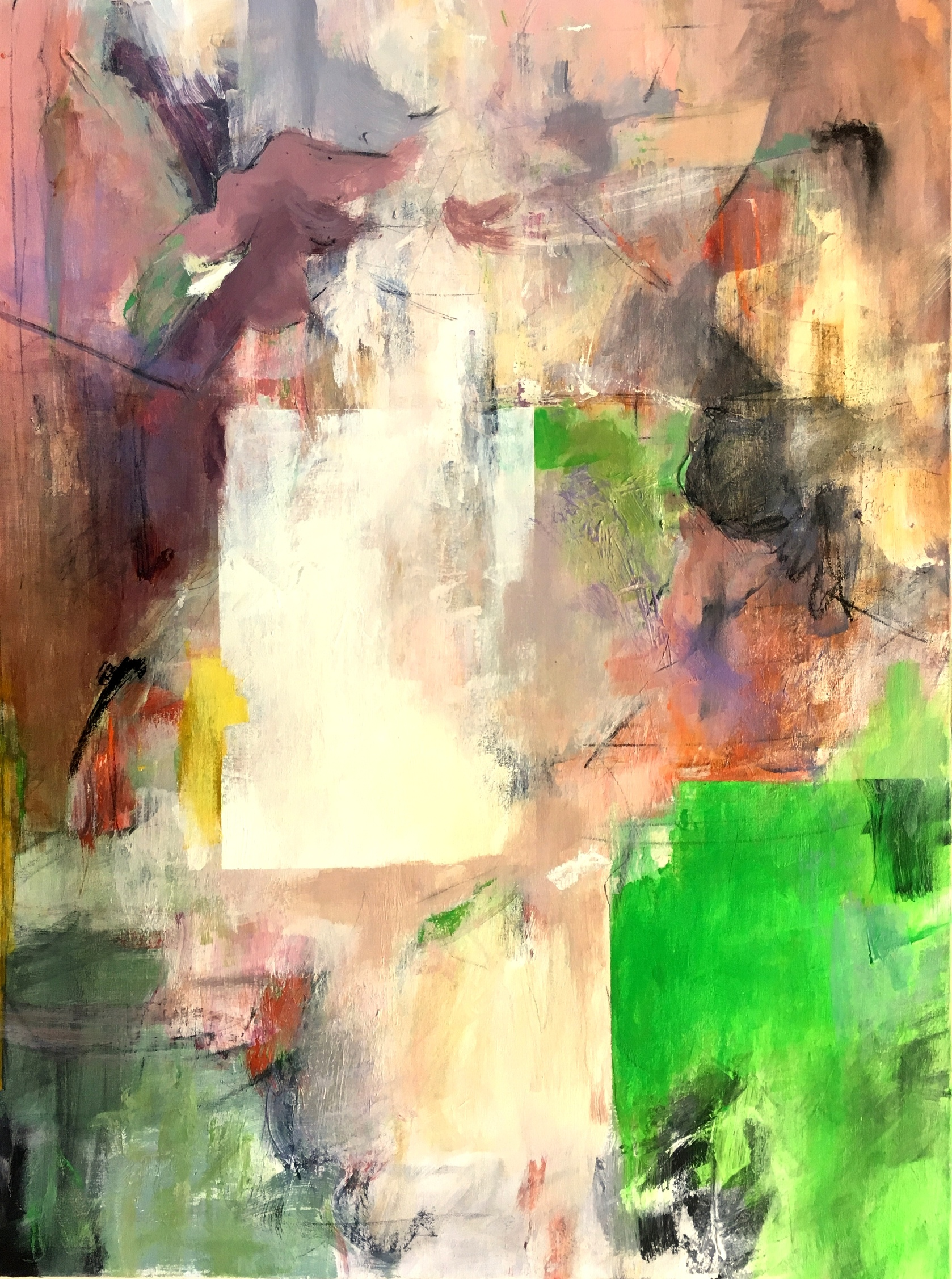 Jay Peterzell - Sinbad - acrylic and charcoal on canvas - 40 x 30
