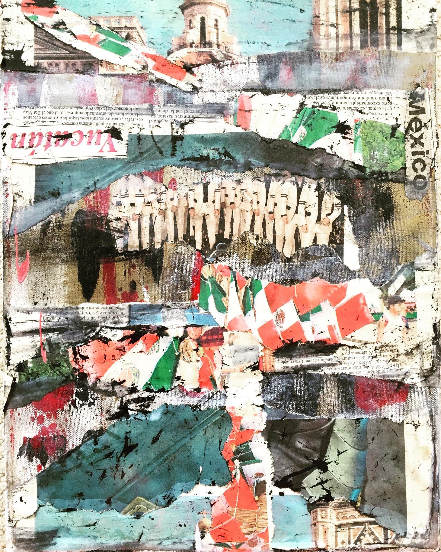 Mexico  - 14 x 11 - mixed media