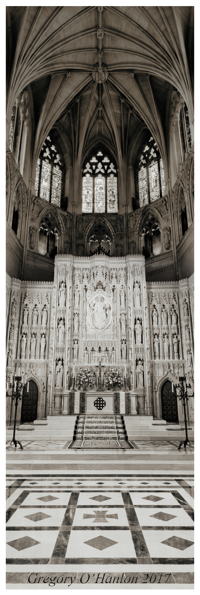 Gregory O'Hanlon - High Altar - National Cathedral - photograph - 40 inch panoramic