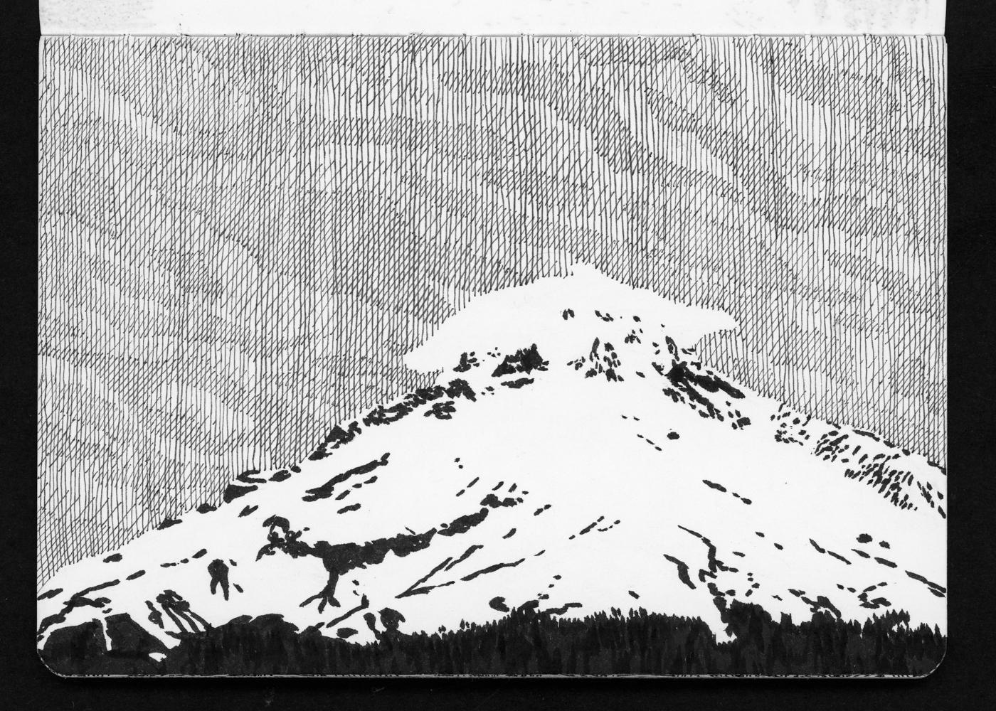 05-04 Mt Hood Dusk Lenticular from Ski Bowl.jpg