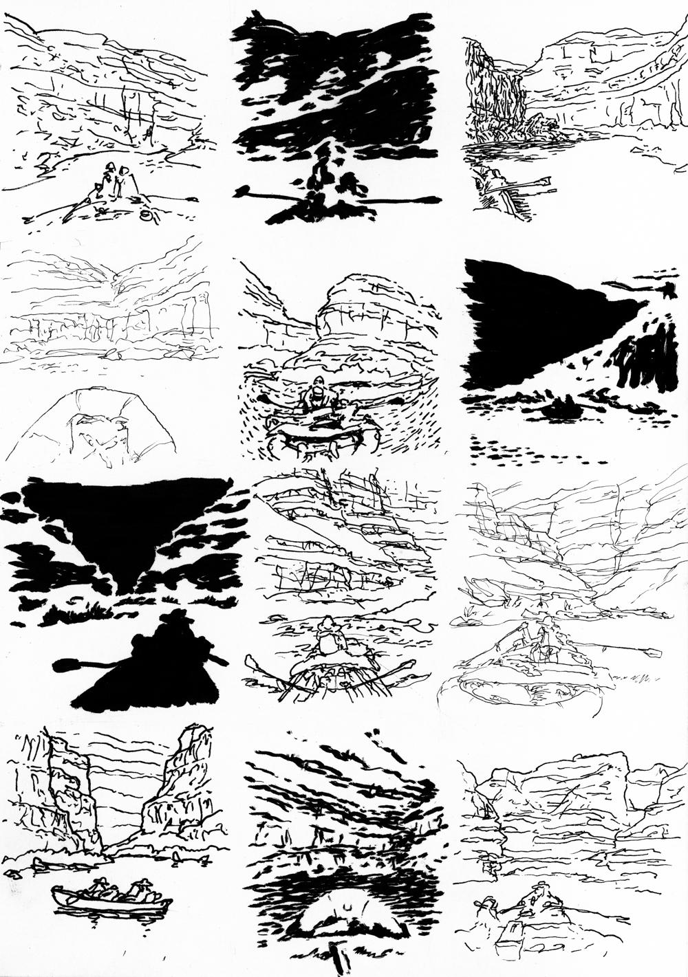 Boat journal, 5min studies, click for full