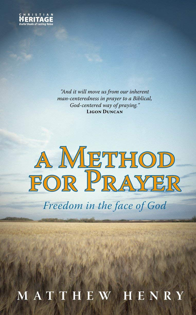 A Method for prayer: Freedom in the face of Godby: Matthew Henry - This rich work from the well-known puritan author defines and models prayer for the believer. Our prayers are often weak, ineffective, and pathetic. This book will help explain why as well as help create a habit of prayer that is God focused and thus powerful, effective, and God-glorifying. Read a detailed review here.- Pastor Andy