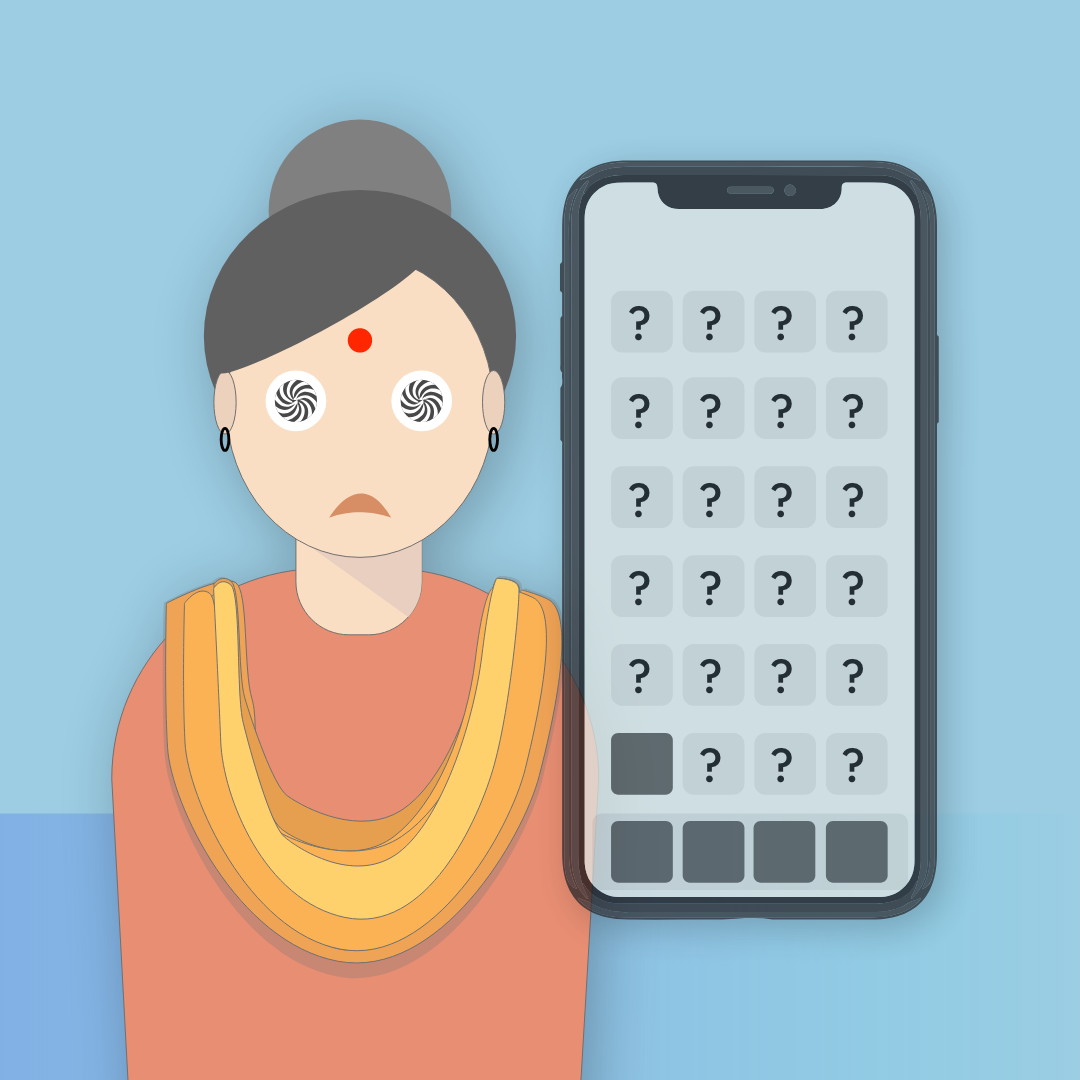 Do all the mothers struggle with smartphones? - A study of smartphone usage among 30 to 60 year old women, study inspired by my own mother. How does the present day UI fare for them?