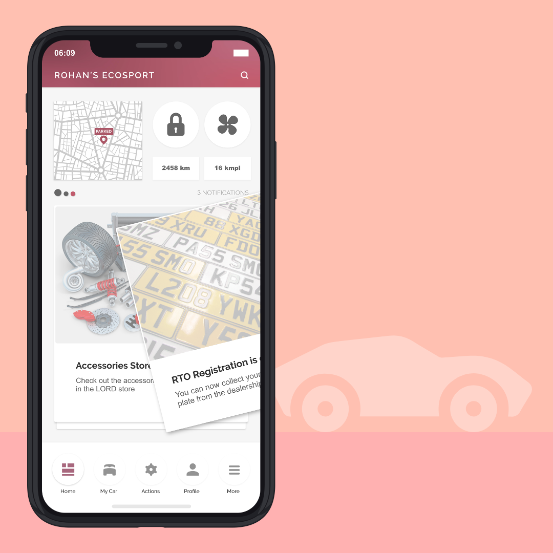 Car Owner's App - User Experience to enhance a customer's car owning experience, help the brand serve the customer better and keep the customer updated with information about their car